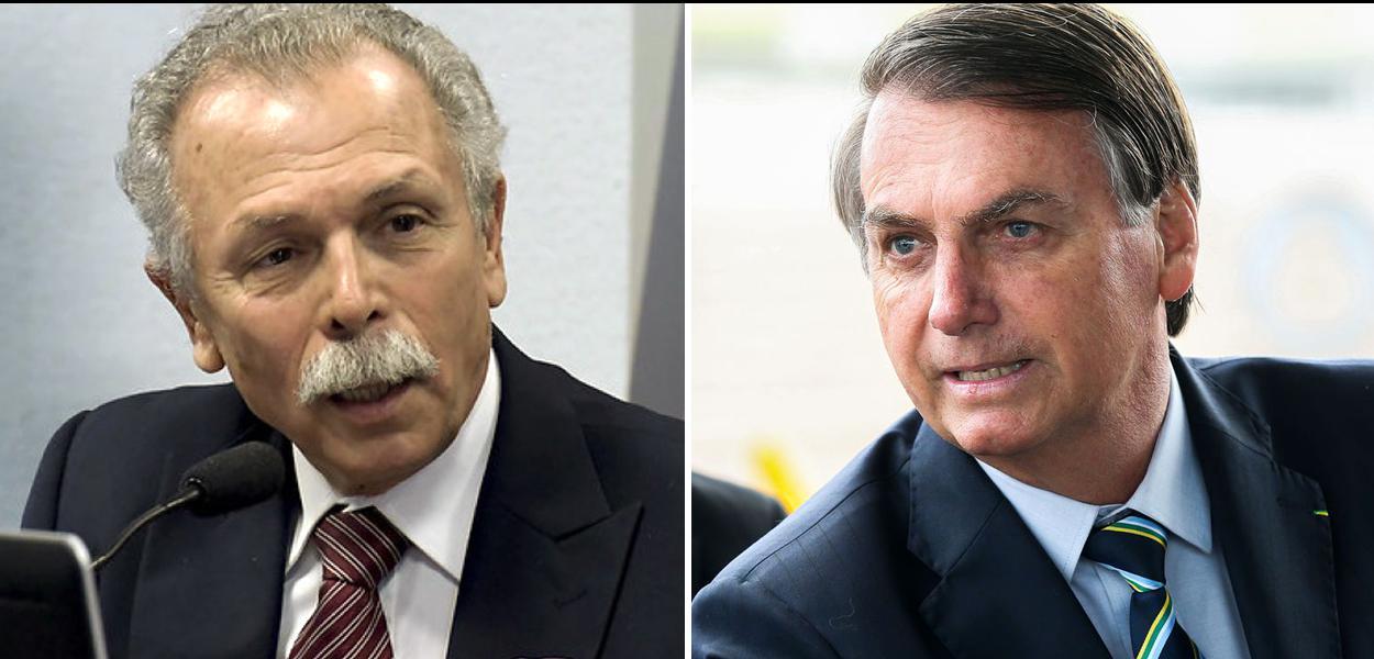Ricardo Galvão e Jair Bolsonaro