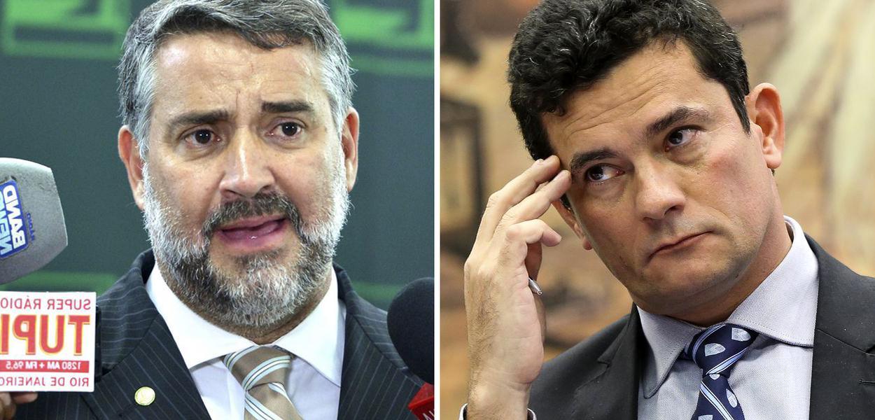 Deputado Paulo Pimenta e ministro Sergio Moro