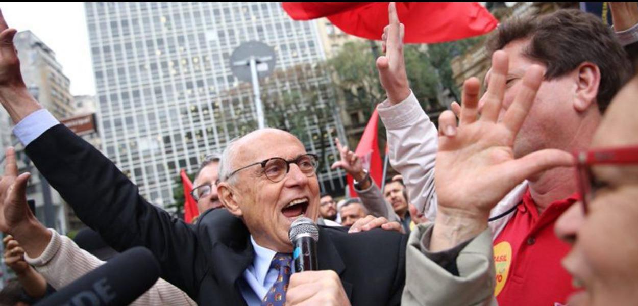 Vereador Eduardo Suplicy (PT)