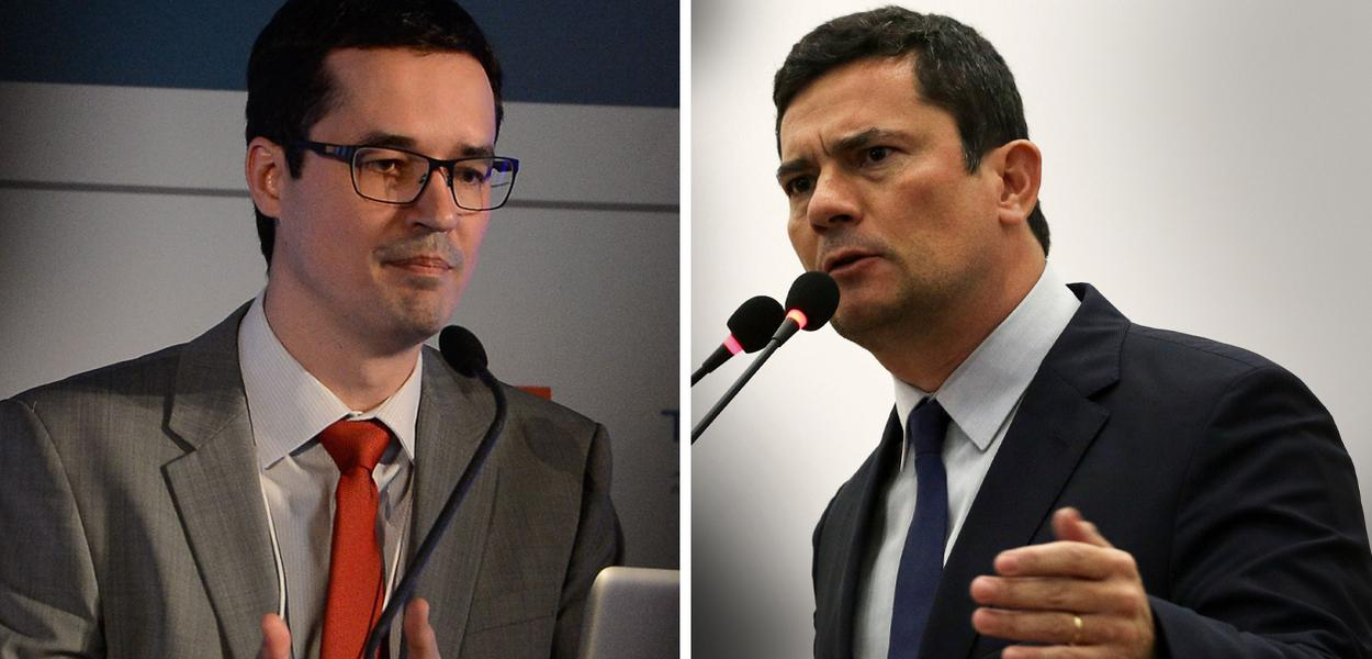 Deltan Dallagnol e Segio Moro