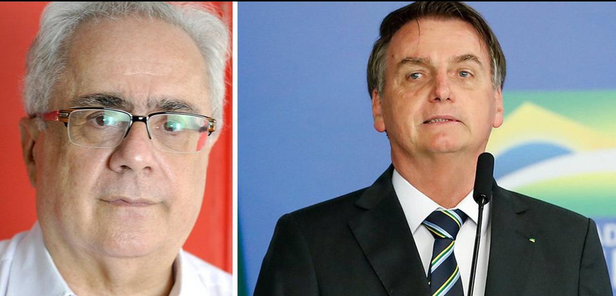 Luis Nassif e Jair Bolsonaro