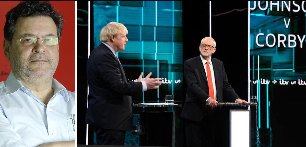Rui Costa Pimenta, Boris Johnson e Jeremy Corbyn
