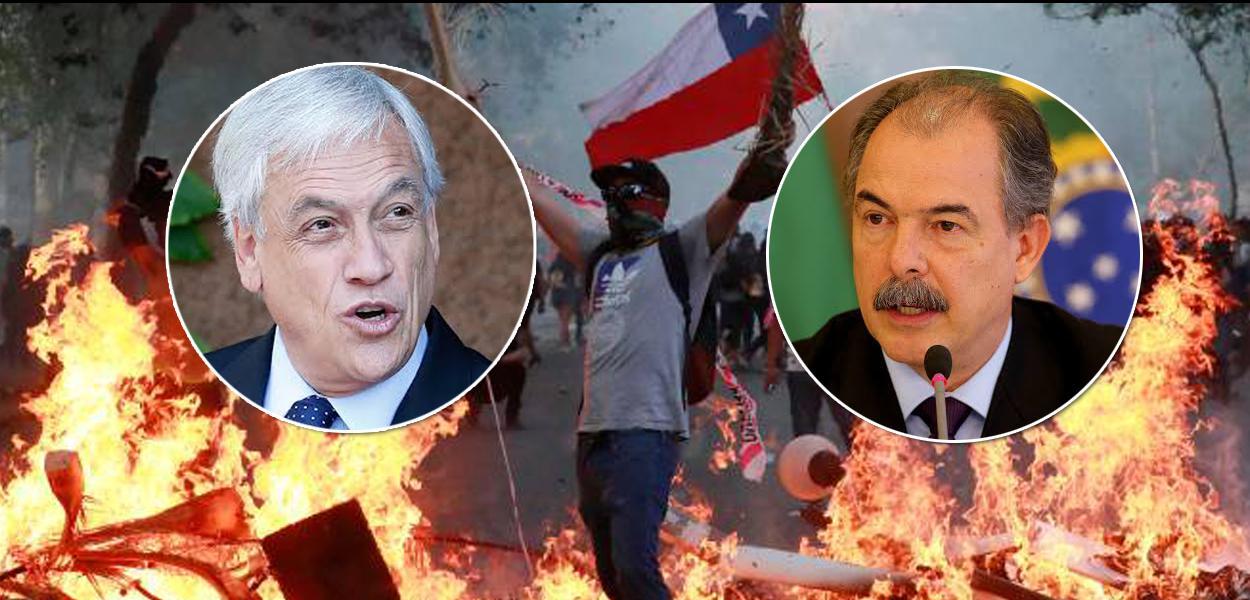 Sebastián Piñera e Aloizio Mercadante