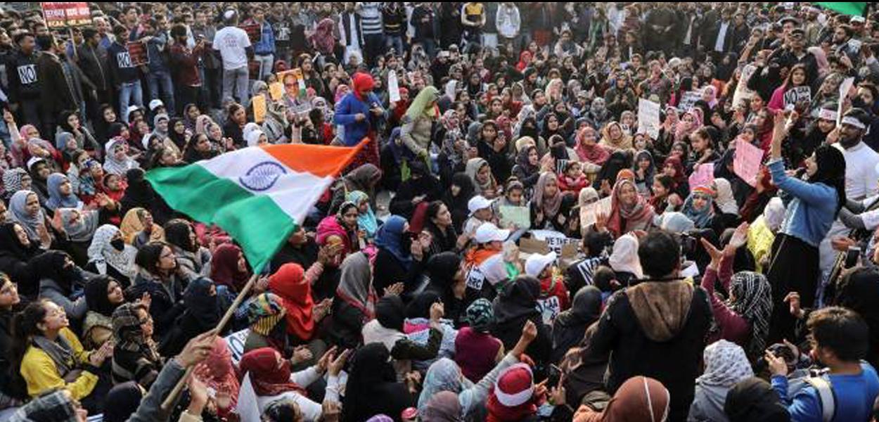 Protestos contra lei de cidadania na India