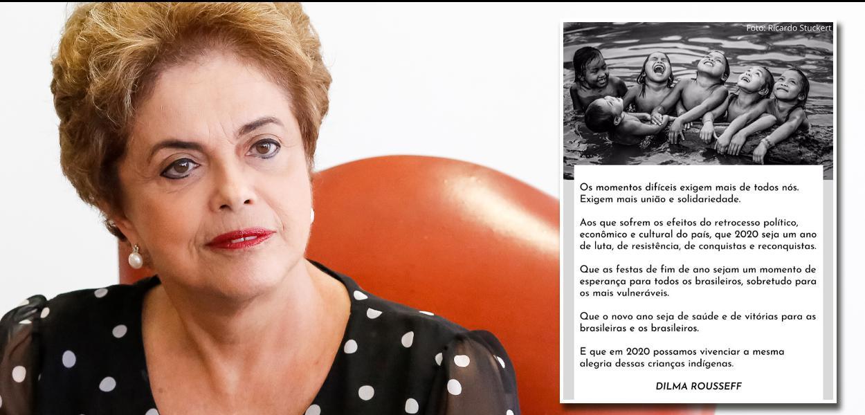 Dilma envia mensagem de natal