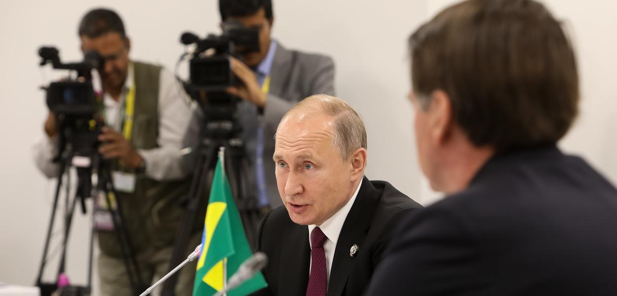 Vladimir Putin e Jair Bolsonaro