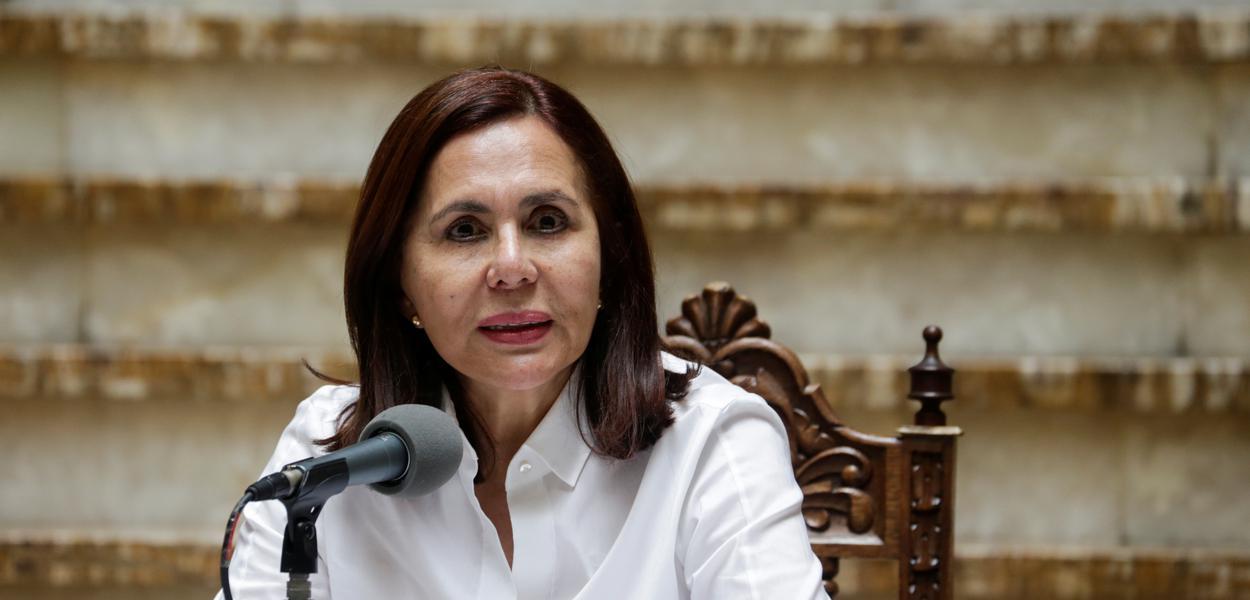Ministra interina das Relações Exteriores da Bolívia, Karen Longaric