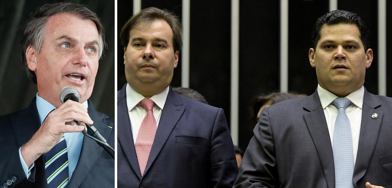 Bolsonaro recebe Dias Toffoli, Rodrigo Maia e Davi Alcolumbre no Palácio da Alvorada