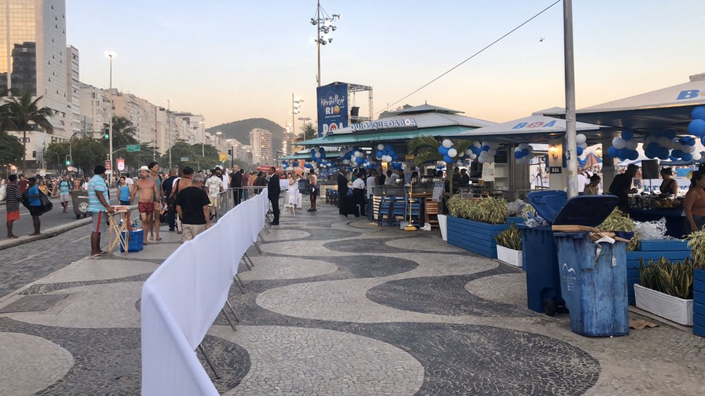 Calçadão VIP no Ano Novo do Rio de Janeiro