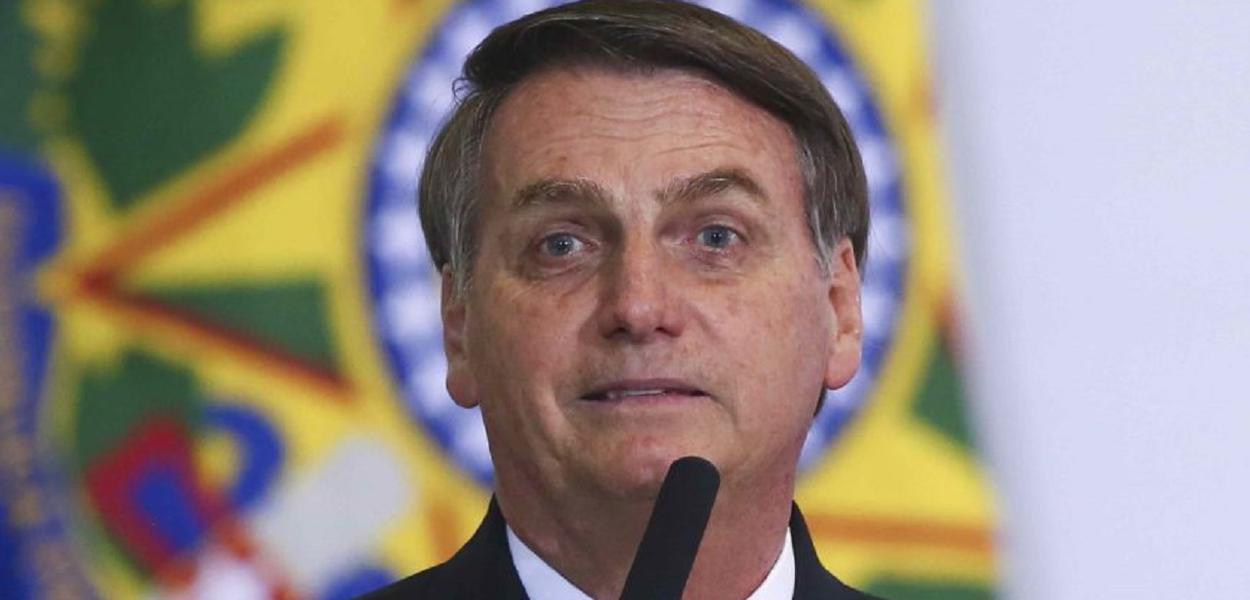 Presidente Jair Bolsonaro e ministros durante a cerimonia em homenagem aos 300 dias de govenro. Brasilia, 05-11-2019. Foto: Sérgio Lima/PODER 360