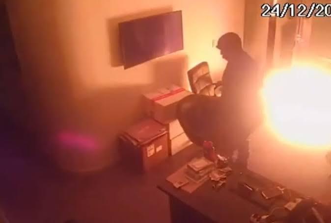 Explosão após ataque à produtora do Porta dos Fundos