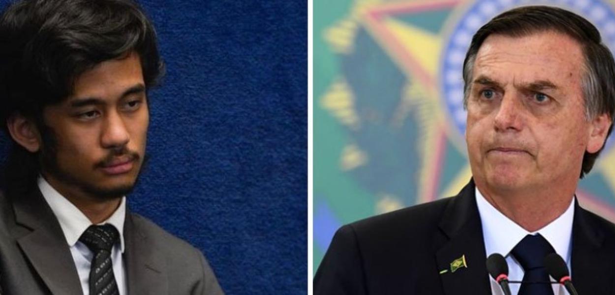 Kim Kataguiri e Jair Bolsonaro