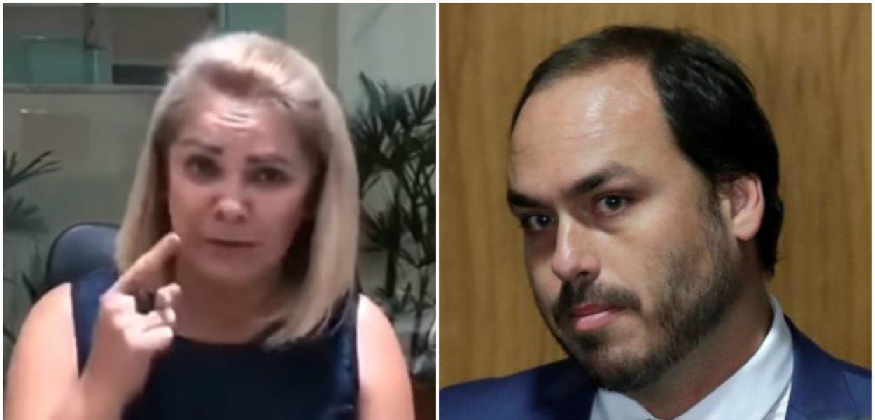 Ana Cristina Valle e Carlos Bolsonaro