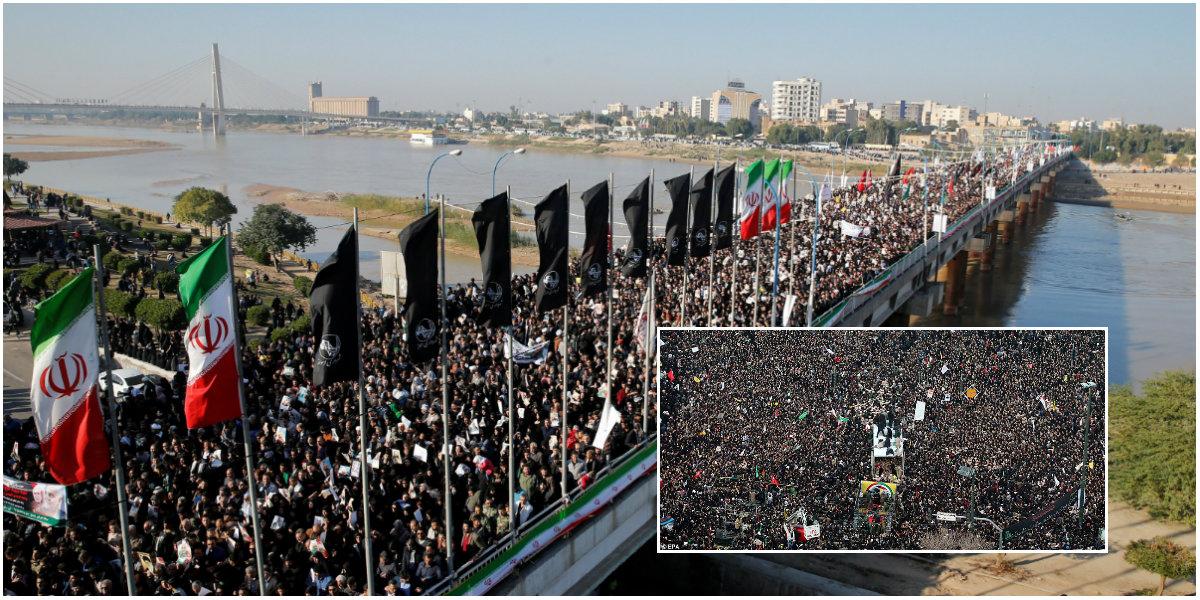 Iranianos marcham em homenagem ao general Soleimani