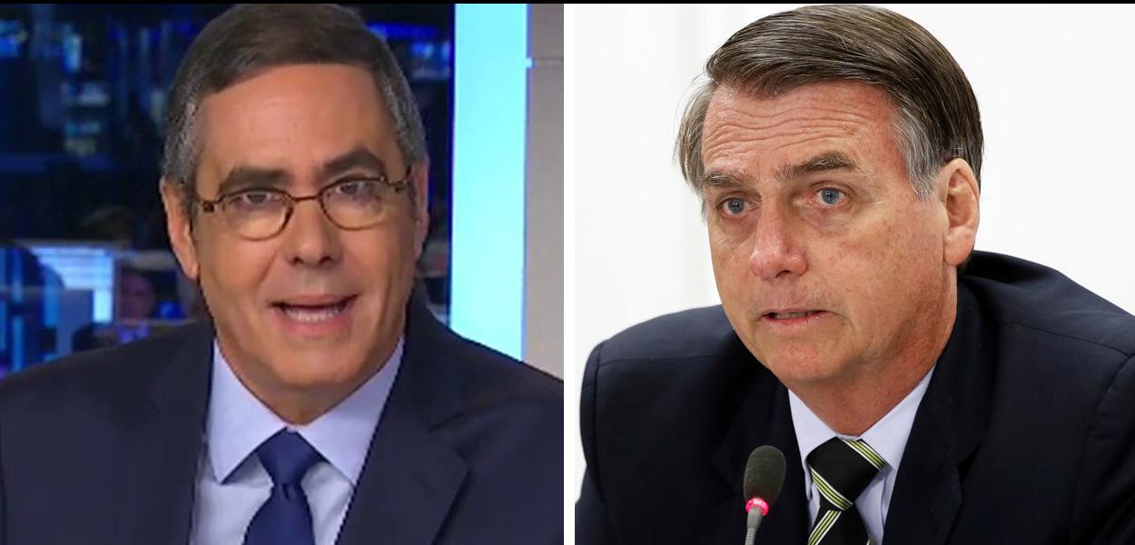 Jornalista Fabio Pannunzio e Jair Bolsonaro