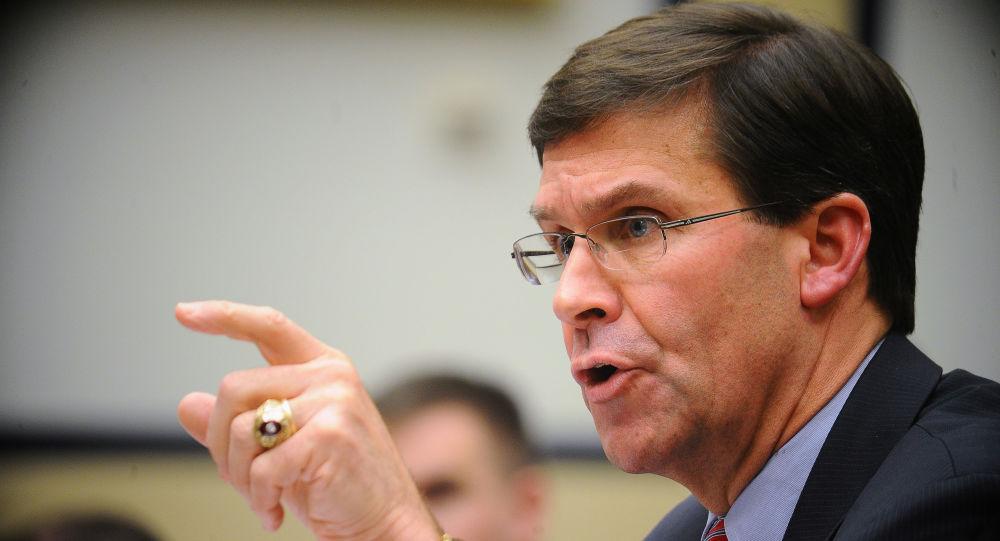 Secretário de defesa dos Estados Unidos, Mark Esper