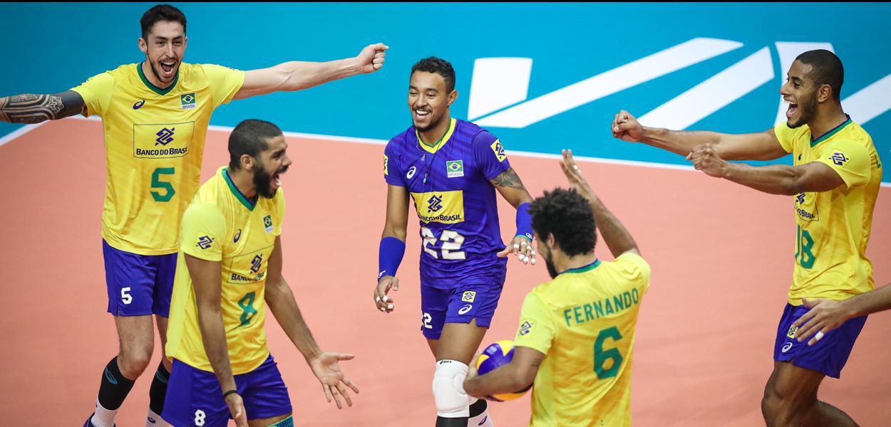 A seleção brasileira masculina de vôlei em  jogos pela Liga das Nações.