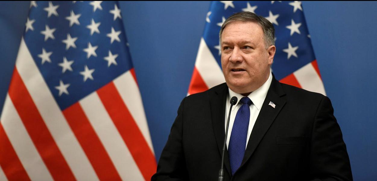 O secretário de Estado dos EUA, Mike Pompeo