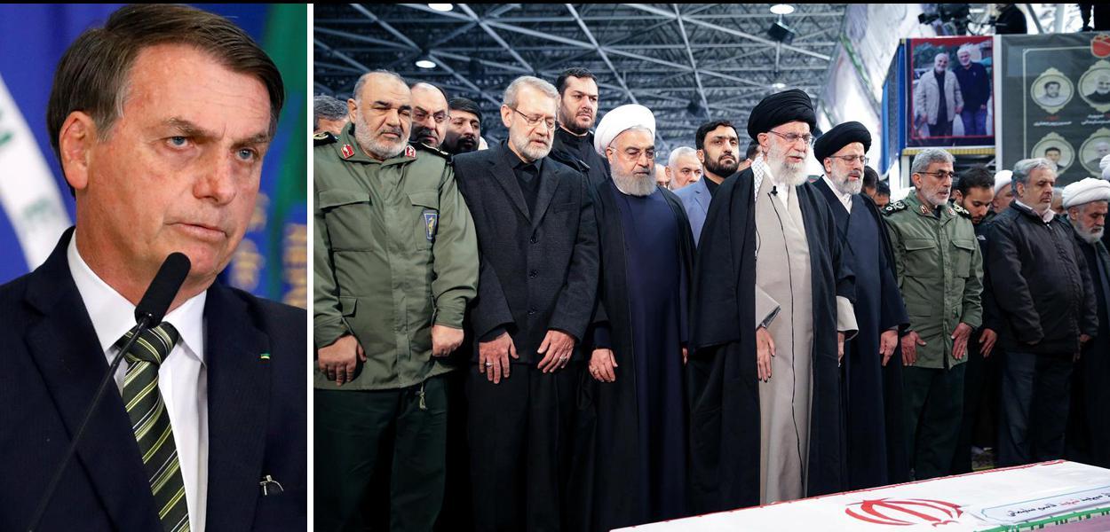 Jair Bolsonaro e velório do general Soleimani, no Irã