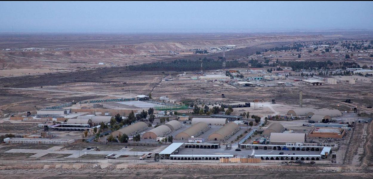 Ain al-Asad air base in the western Anbar desert, Iraq, Dec. 29, 2019.