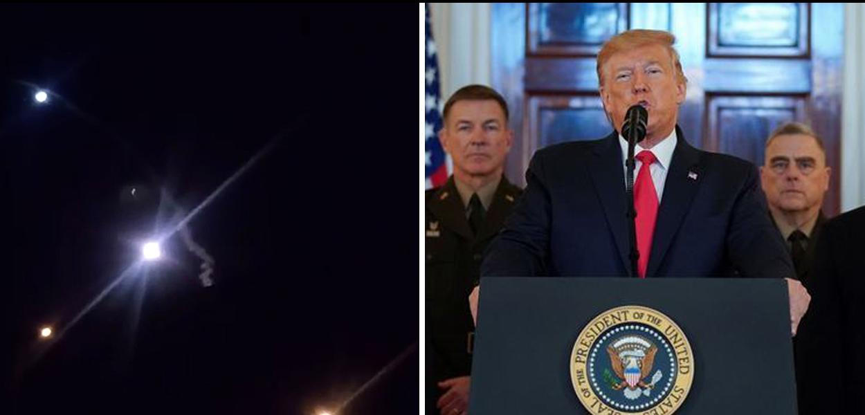 Ataque à base militar americana, um dia antes do pronunciamento de Trump
