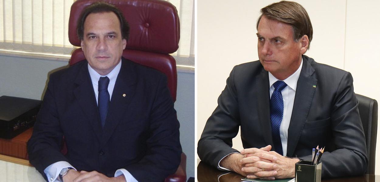 Desembargador Benedicto Abicair e Jair Bolsonaro