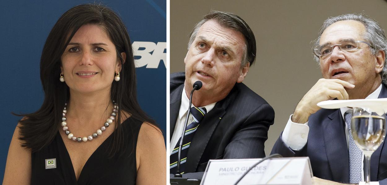 Zeina Latif, Jair Bolsonaro e Paulo Guedes