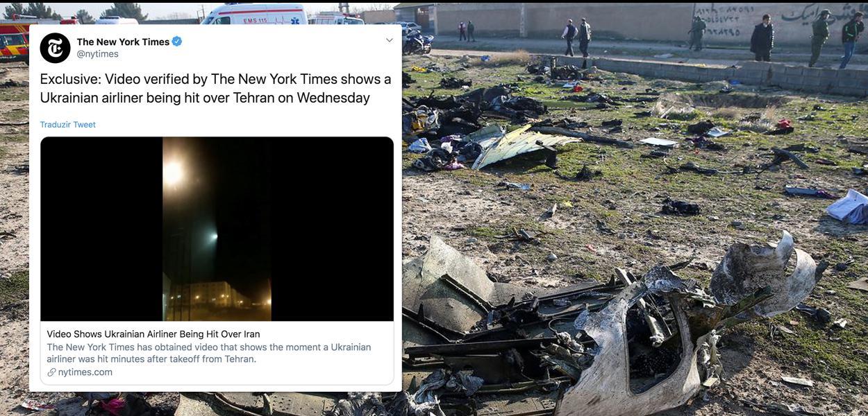 NYT divulga vídeo de avião sendo atingido por míssil