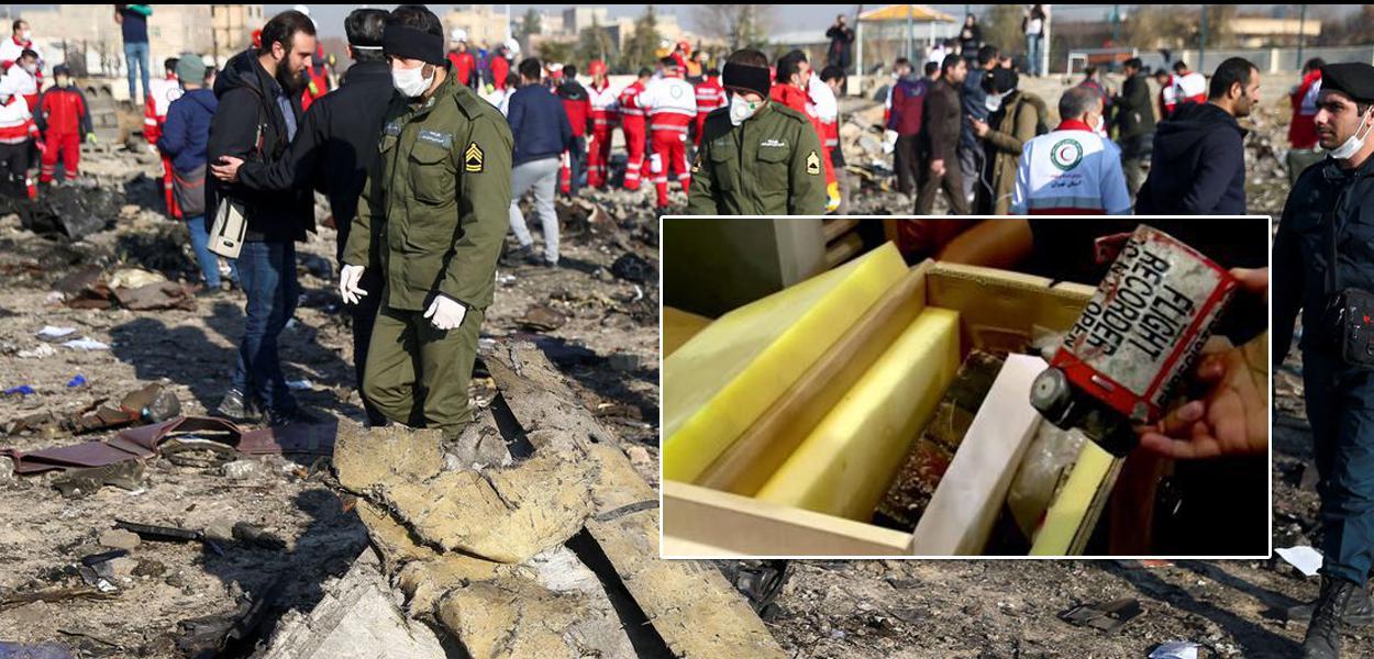 Irã mostra foto da caixa-preta do avião ucraniano que caiu em Teerã