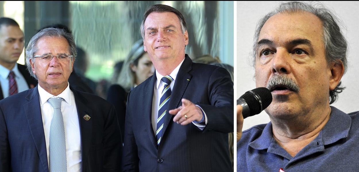 Paulo Guedes, Jair Bolsonaro e Alozio Mercadante