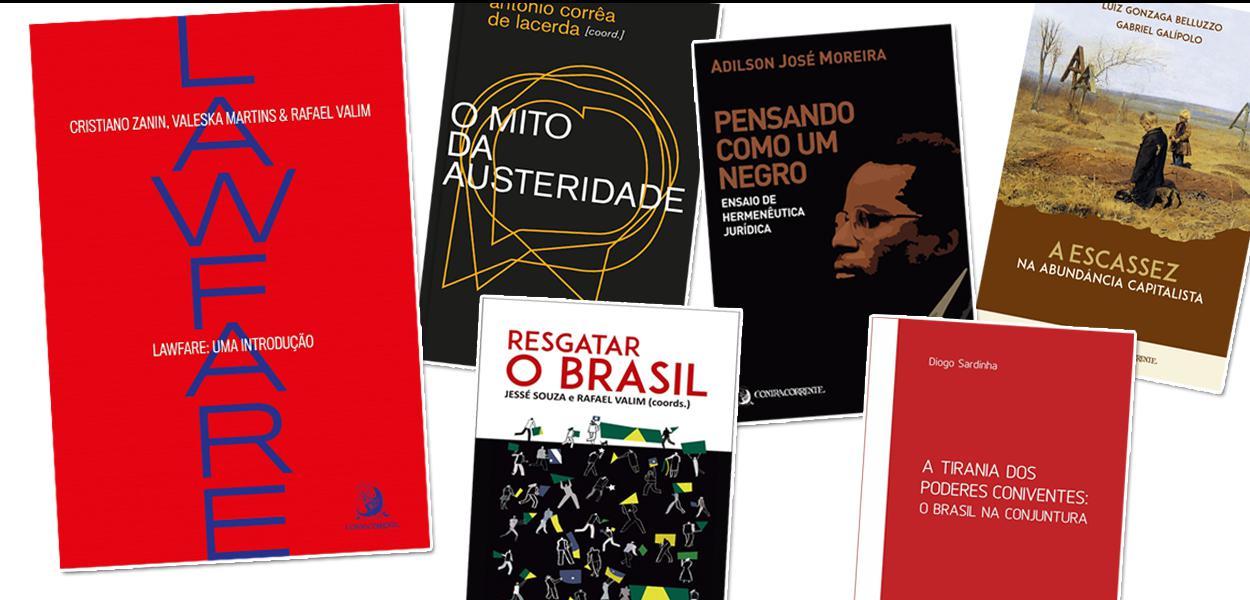 Livros com descontos oferecidos pelas Editoras Contracorrente e 247.