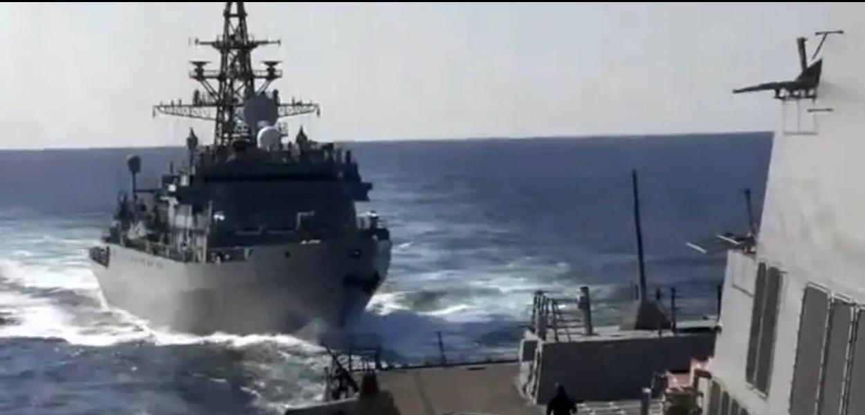 Imagem fornecida pela quinta frota