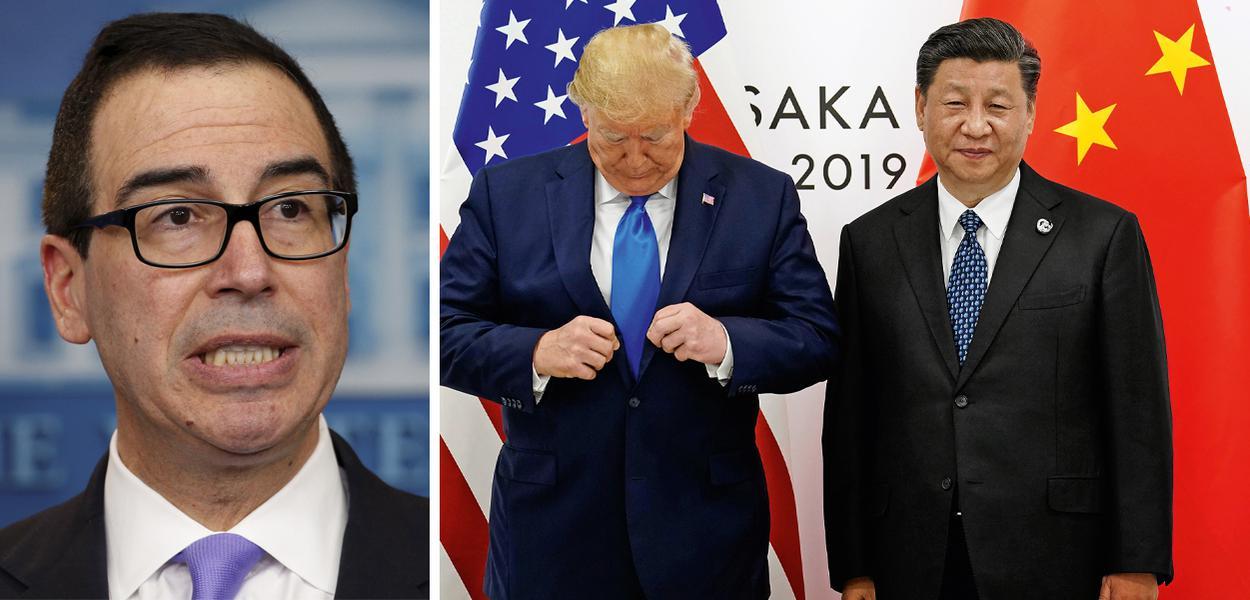 Steven Mnuchin, Trump e Xi Jinping no G20.