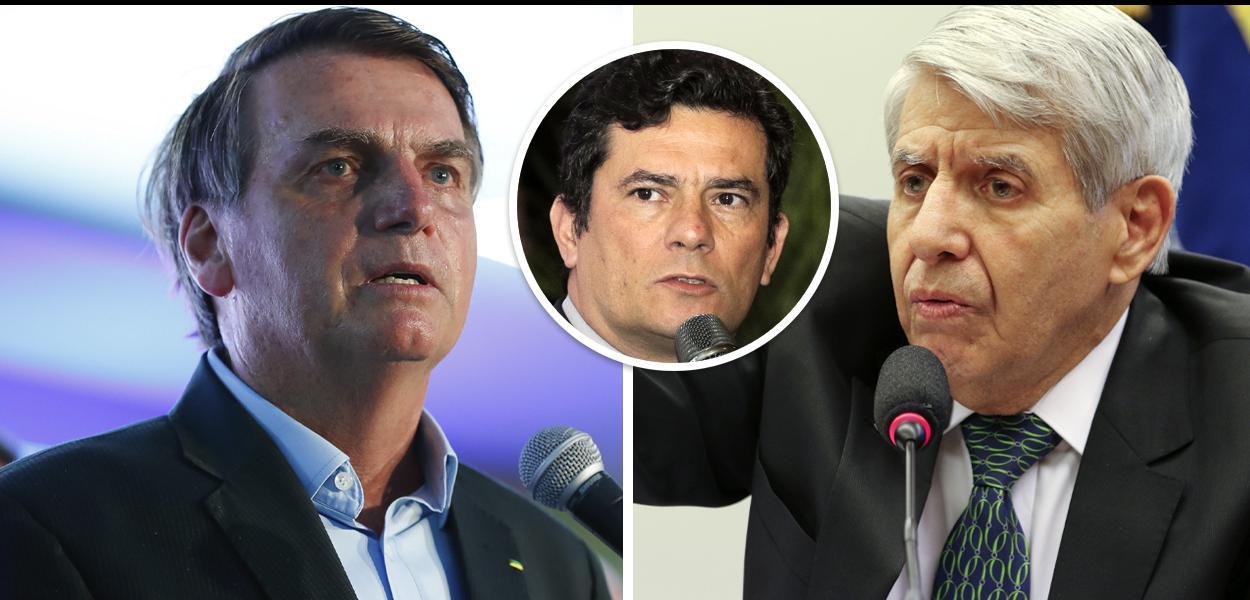 Jair Bolsonaro, Sérgio Moro e Augusto Heleno