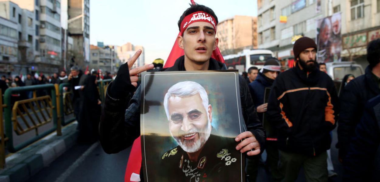 Irã protesta por assassinato do general Soleimani