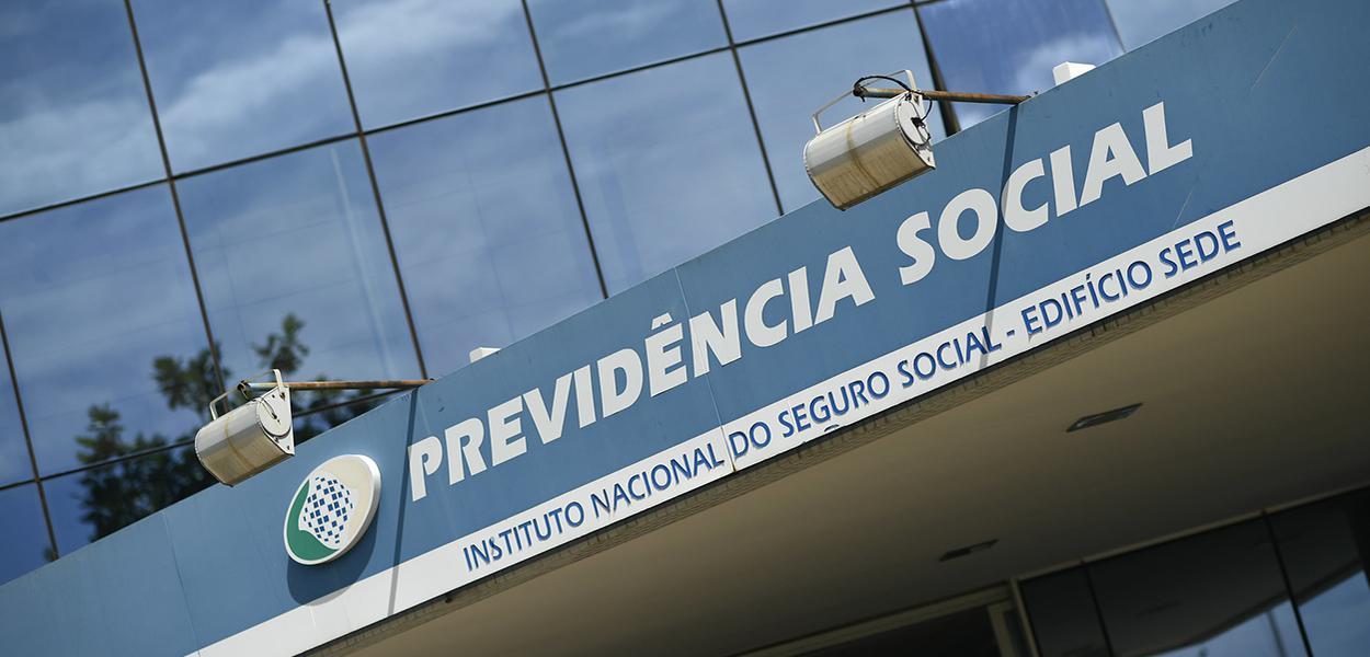 Fachada do Edifício Sede do Instituto Nacional do Seguro Social - Previdência Social.