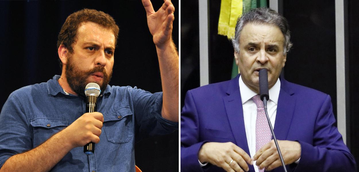 Guilherme Boulos e Aécio Neves