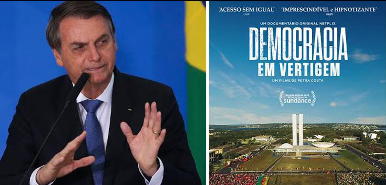 Bolsonaro criticando o filme brasileiro indicado ao Oscar.
