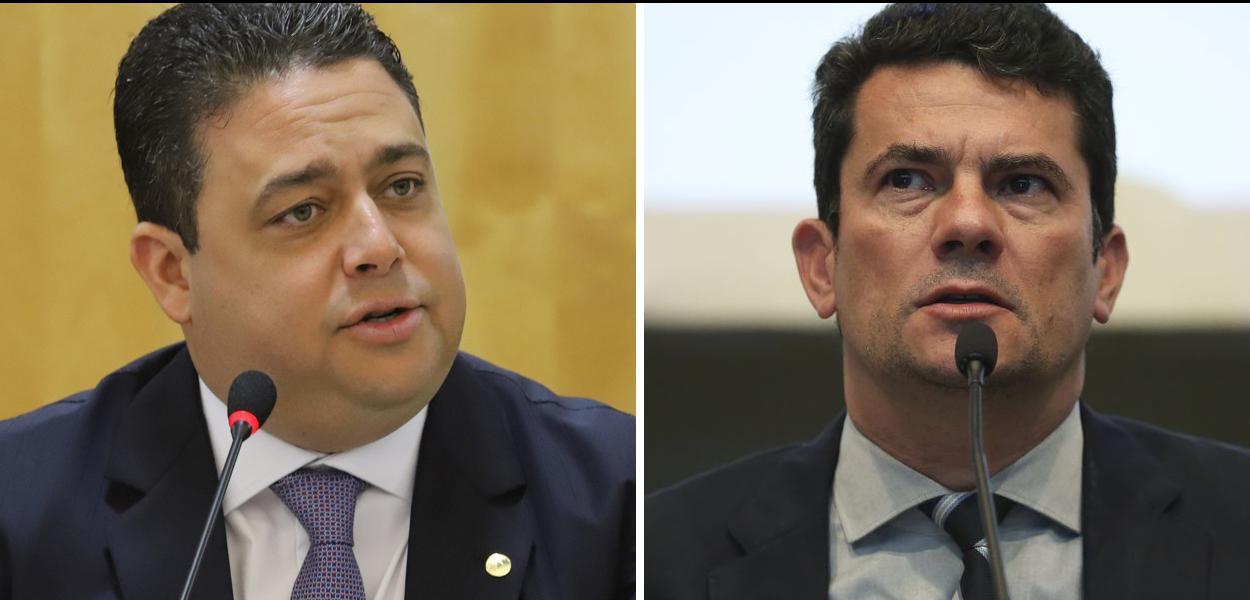 Presidente da OAB, Felipe Santa Cruz, e ministro da Justiça, Sergio Moro