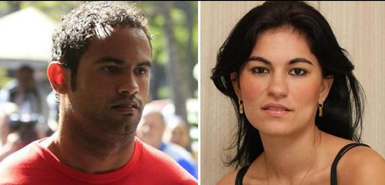 Goleiro Bruno e sua ex-companheira morta Eliza Samudio.