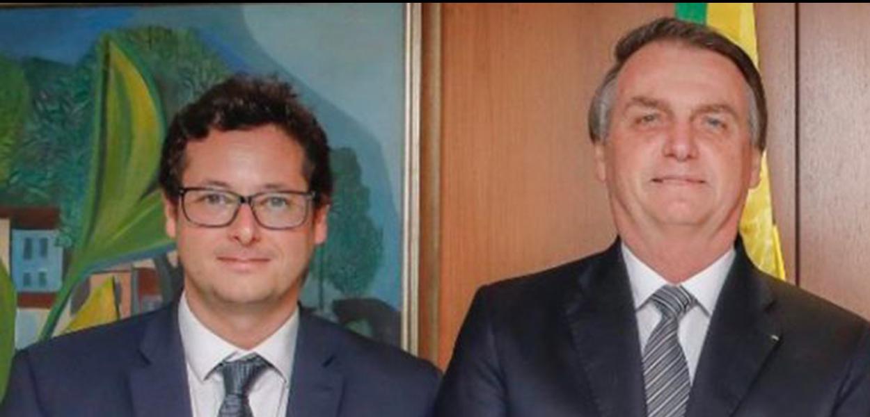 Bolsonaro e o chefe da Secom, Fabio Wajngarten