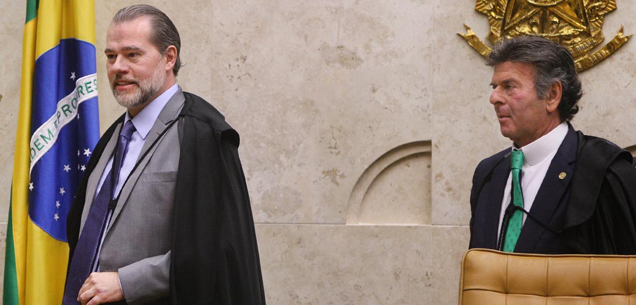 Ministros Dias Toffoli e Luiz Fux