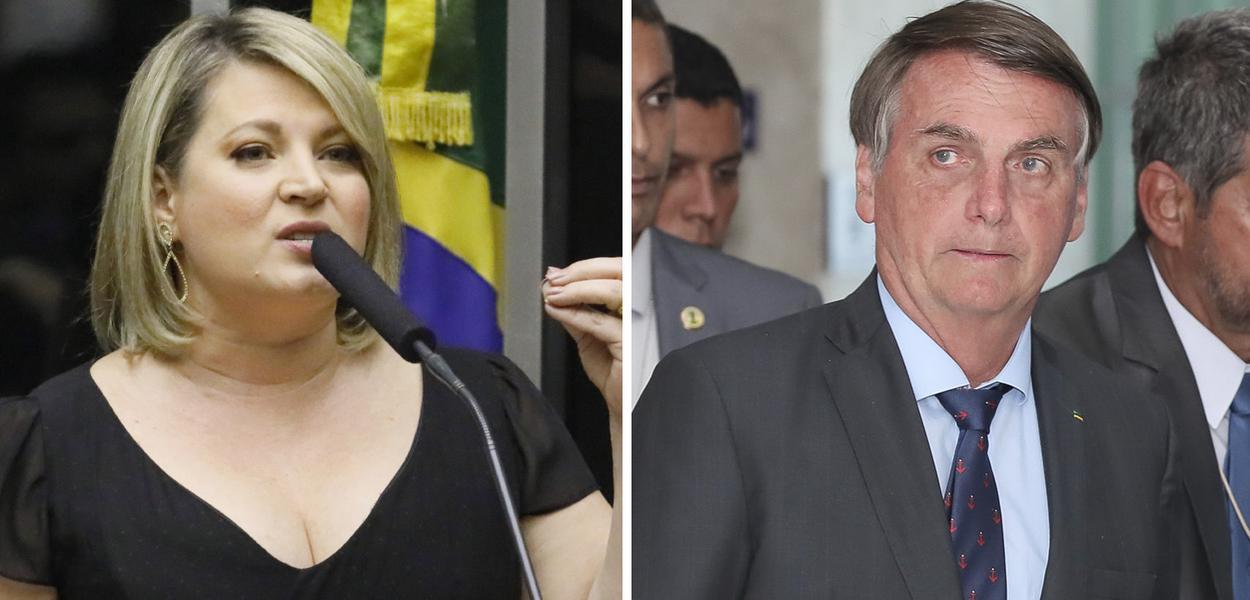 Joice Hasselmann e Jair Bolsonaro