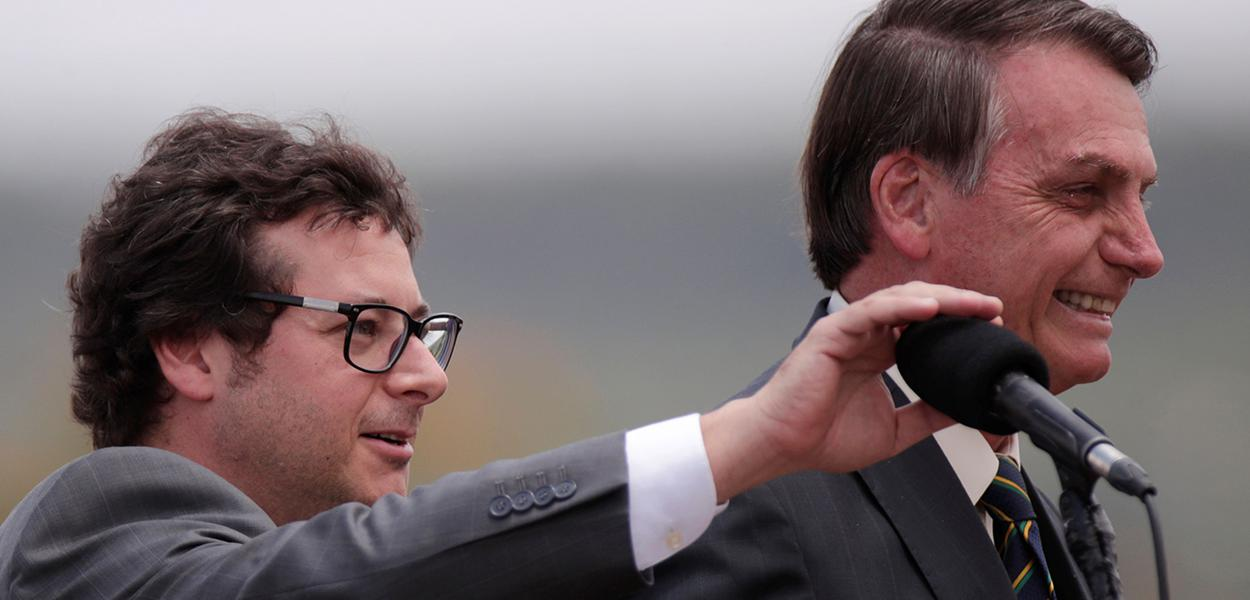 Fabio Wajngarten e Jair Bolsonaro