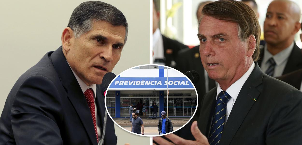General Carlos Alberto dos Santos Cruz e Jair Bolsonaro