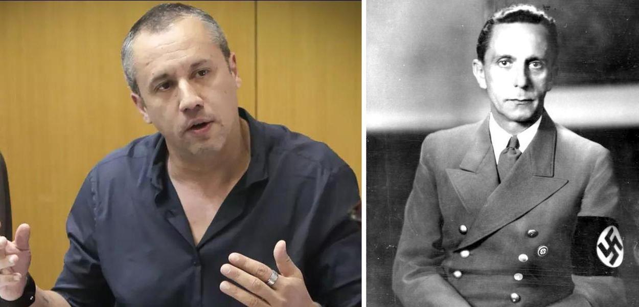 Roberto Alvim e Joseph Goebbels