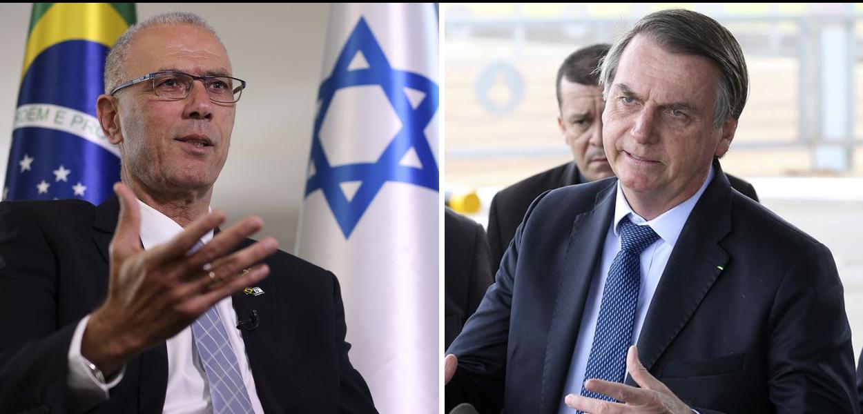 Embaixador de Israel no Brasil, Yossi Shelley, e Jair Bolsonaro