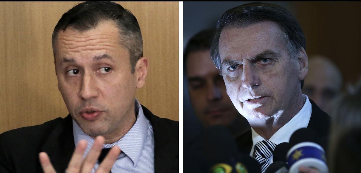 Roberto Alvim e Jair Bolsonaro