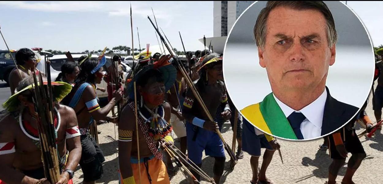 Indígenas divulgam manifesto contra o governo.