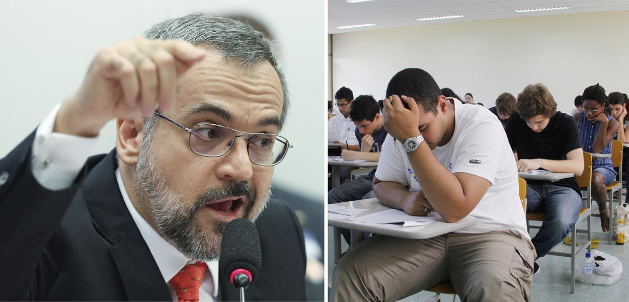 Ministro da Educação Abraham Weintraub e estudantes